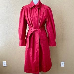 London Fog Towne Vintage Red Trench Coat